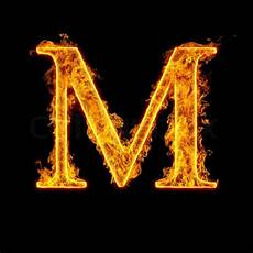 Alphabet Letter M Isolated On Black Background