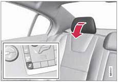 manual repair free 2013 volvo s60 seat position control volvo s60 automatically folding down the rear seat s outboard head restraints rear seats