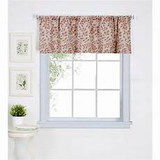 elrene serene 60 in w 15 in l cotton single window curtain valance in spice 38966spi the