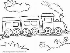 Gambar Mewarnai Kereta Api Untuk Anak Paud Dan Tk Aneka