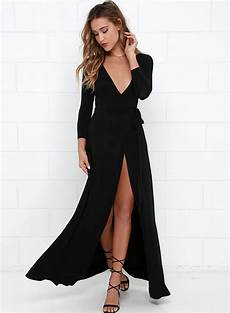 sleeve maxi dress rash s v neck sleeve slit maxi dresses