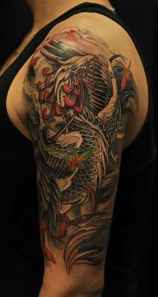 half sleeve phoenix tattoo chronic ink