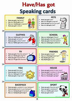 have has got speaking cards english esl worksheets for distance learning and physical classrooms