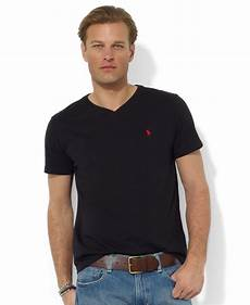 lyst polo ralph medium fit v neck t shirt in
