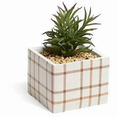 plante artificielle pot motif carreau de ciment vase et