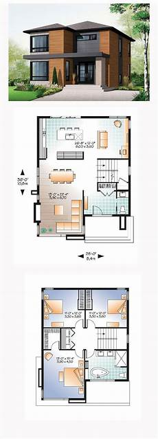 sims 3 modern house floor plans modern style house plan 76317 with 3 bed 2 bath