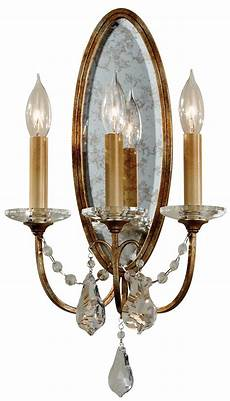 feiss valentina 3 light wall light oxidised bronze with crystal drops