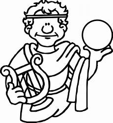ancient rome holding sphere coloring page wecoloringpage