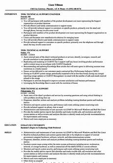 customer technical support resume technical support resume exle