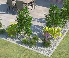 Gartenbeet Mit Steinen Anlegen - beeteinfassung terrassenumrandung setzen outdoors