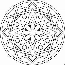 mandala blume vierecke ausmalbild malvorlage mandalas