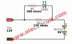 Snap Phone Wiring Diagram by Simple Nicad Battery Charger Circuit By Part