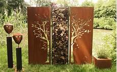 Gartenwand Diptychon Baum 150 X 195 Cm Atelier 51