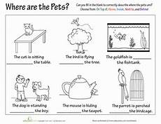 free printable preposition worksheets for 2nd grade preposition practice worksheet education com