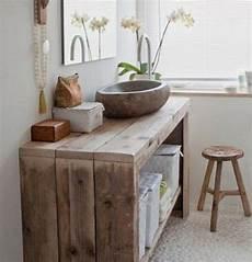 meuble bois brut design meuble salle de bain bois 35 photos de style rustique