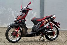 Modifikasi Beat 2017 Simple by Foto Modifikasi Honda Beat Fi Hitam Paling Keren Dan Trendi