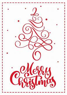christmas scandinavian greeting card with merry christmas calligraphy lettering text drawn