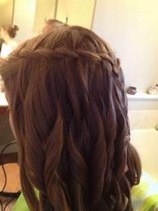 waterfall braid before middle school dance cute hair pinterest school dances middle