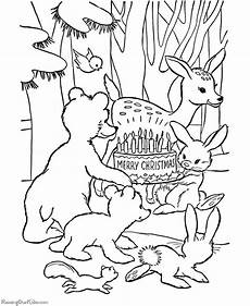 Ausmalbilder Weihnachten Tiere Animal Coloring Pages Printables