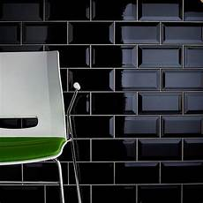Metro Black Bevelled Wall Tiles Crown Tiles