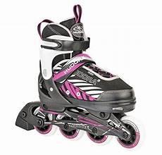 inline skates kinder gr 33 28136 36 schwarz pink hudora kinder inliner