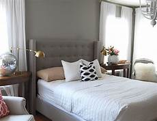 Bedroom Ideas Grey Headboard by Gray Tufted Wingback Headboard Design Ideas