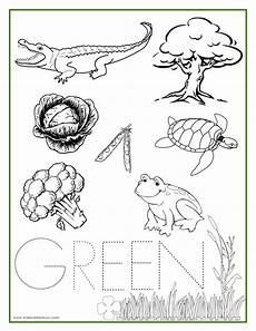 learn colors worksheets free 12775 green color activity sheet