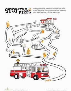 fire maze worksheet education com