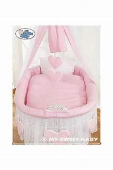 vimini neonato vimini neonato cuori rosa bianco