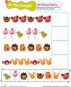 jungle animals worksheets for preschool 13917 identifying patterns in the jungle worksheet education