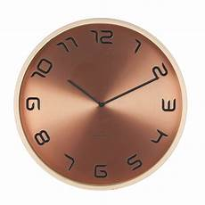 wall clock bent wood copper karlsson ka5611co