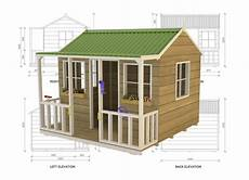 simple cubby house plans wallaby lodge kids outdoor playhouses cubby house