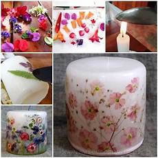 decoupage candele how to decoupage a candle with flowers