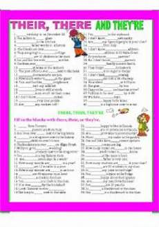 grammar worksheets there their they re 24988 teaching worksheets pronouns