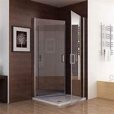 Duschkabine Glas Eckeinstieg - 90 x 75 cm echtglas duschkabine eckeinstieg dusche