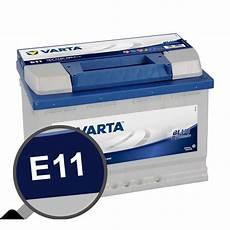 batterie voiture varta e11 74ah 680a 12v feu vert