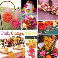 yellow and pink wedding decoration