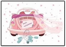 just married auto zum ausdrucken kostenlos