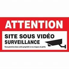 panneau site sous surveillance plaque attention site sous vid 233 o surveillance