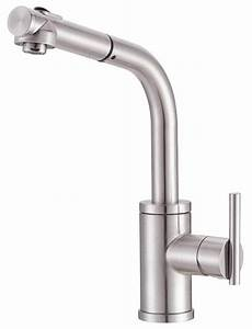 kitchen faucets danze danze d404558ss parma single handle kitchen faucet with pull out spout stainless steel touch