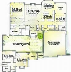 single story house plans with courtyard single story house plans with center courtyard best of u