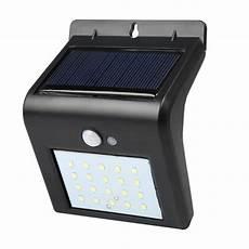 20 leds solar power pir motion sensor wall l waterproof