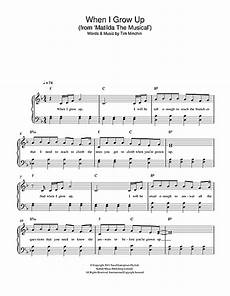 when i grow up from matilda the musical sheet music by tim minchin easy piano 115997