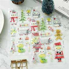 aliexpress com buy ypp craft merry christmas self adhesive stickers for scrapbooking diy