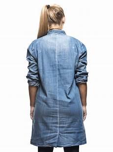 chemise en jean longue femme coupe asym 233 trique col mao