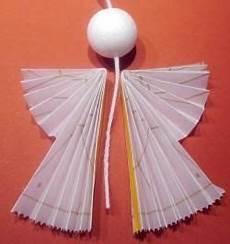 engel aus transparentpapier falten weihnachtsengel