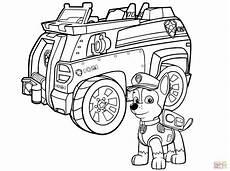 paw patrol car coloring page free printable