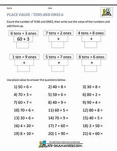 place value worksheets and answers 5013 math place value worksheets 2 digit numbers