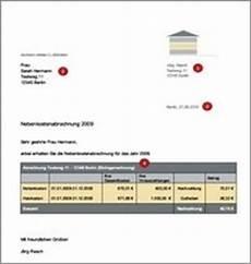 nebenkostenabrechnung muster kostenlos hausblick