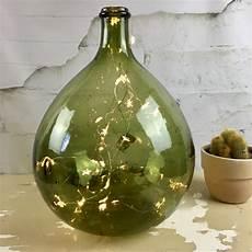 dame jeanne en verre dame jeanne bonbonne vase forme bouteille en verre recycl 233 vert